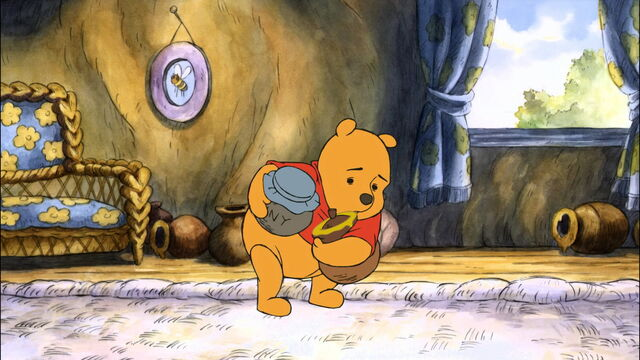 File:Winnie the Pooh is gathering honey pots.jpg
