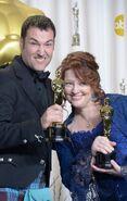 Mark Andrews Brenda Chapman at 2013 Oscars