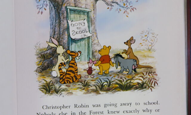 File:Winnie the Pooh and the others all found out and learned that Christopher Robin is at school.jpg