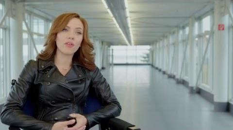 """Captain America Civil War Behind-The-Scenes """"Black Widow"""" Interview - Scarlett Johansson"""