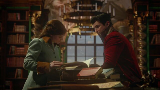 File:Once Upon a Time - 5x17 - Her Handsome Hero - Belle and Gaston Reading.jpg