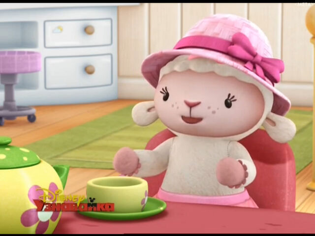 File:Lambie at tea party.jpg