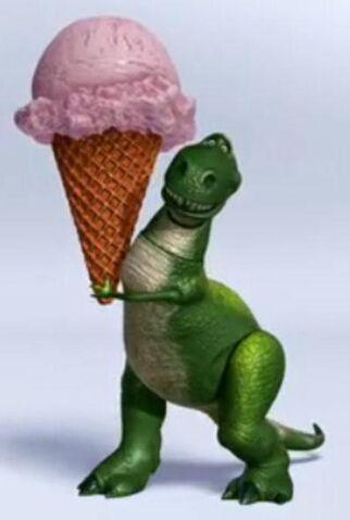 File:Rex holding a big ice cream cone.jpg