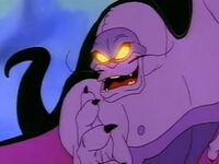 Evil Manta glowing eyes