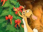 Rabbit at Christmastime