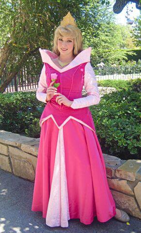 File:Aurora holds a rose @ Disneyland.jpg
