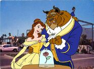 Belle and beast happily together in the disneyland hotel-96975