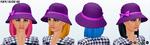 BlackFriday - Purple Cloche Hat