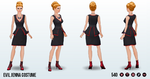 Doppelgangers - Evil Jenna Costume