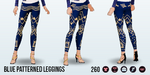 ComplimentDay - Blue Patterned Leggings