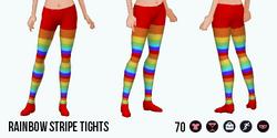 Charade - Rainbow Stripe Tights