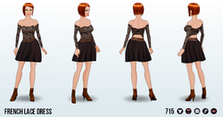 FrostyNightSpin - French Lace Dress