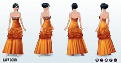 GrandGala - Lava Gown