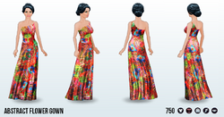 MayDay - Abstract Flower Gown