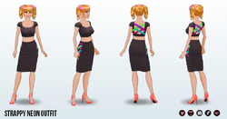 Neon - Strappy Neon Outfit