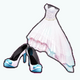 EasterSpin - Pastel Tipped Gown and Pumps