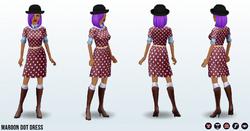 JumpIntoFall - Maroon Dot Dress