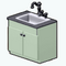 MintGreenDecor - Mint Kitchen Sink