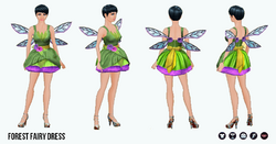 HalloweenHaunt - Forest Fairy Dress