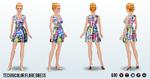 GameNight - Technicolor Flare Dress