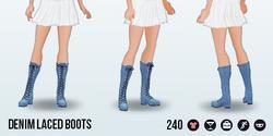 60sStarlet - Denim Laced Boots