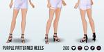 MayDay - Purple Patterned Heels
