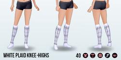 HartAndGray - White Plaid Knee-Highs