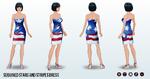 FourthOfJuly - Sequined Stars and Stripes Dress