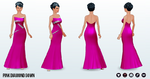SinglesAwarenessDay - Pink Diamond Gown