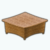 PatioDecor - Wicker Ottoman