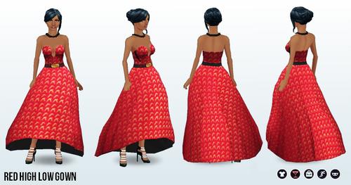 FashionWeek2014 - Red High Low Gown