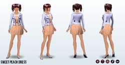 Popstar - Sweet Peach Dress