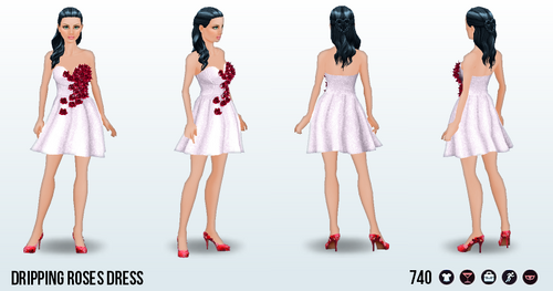 ValentinesDay - Dripping Roses Dress