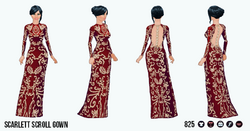 TheVault - Scarlett Scroll Gown