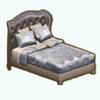 SilverEleganceDecor - Opulent Silver Bed