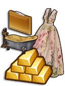 GoldDeal - 161110 - Fall Flora Gown - Citrine Clutch - Inner Luxury Bathtub