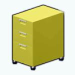 CafeRaffle - Lime Filing Cabinet