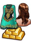 GoldDeal - 170309 - Celtic Knot Hair - Irish Dance Dress
