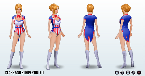 Fourth of July - Stars and Stripes Outfit