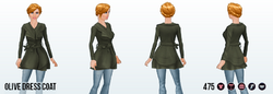 PumpkinSpiceSpin - Olive Dress Coat