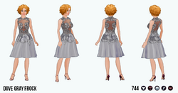 TheVault - Dove Gray Frock