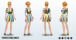 Venice - Striped Venice Dress
