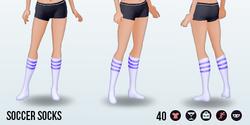 Athena - Soccer Socks purple