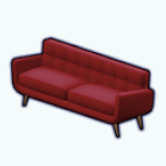 CafeRaffle - Midcentury Winged Couch