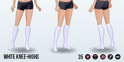 HartAndGray - White Knee-Highs