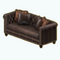 AmericanColonialDecor - Leather and Wood Couch
