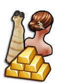 GoldDeal - 170512 - Flower Bud Hair - Golden Spring Gown