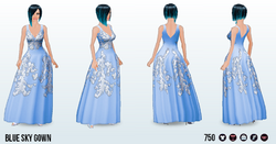 EasterSpin - Blue Sky Gown