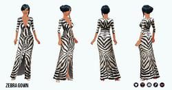 Pet - Zebra Gown