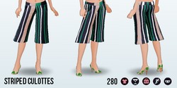 LuckyMeClothing - Striped Culottes